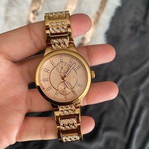 Jennifer Lopez Crystal Stainless Steel Watch